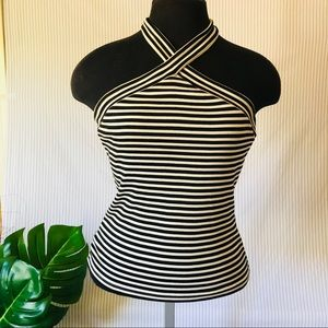 The Limited Tie Neck Halter Top